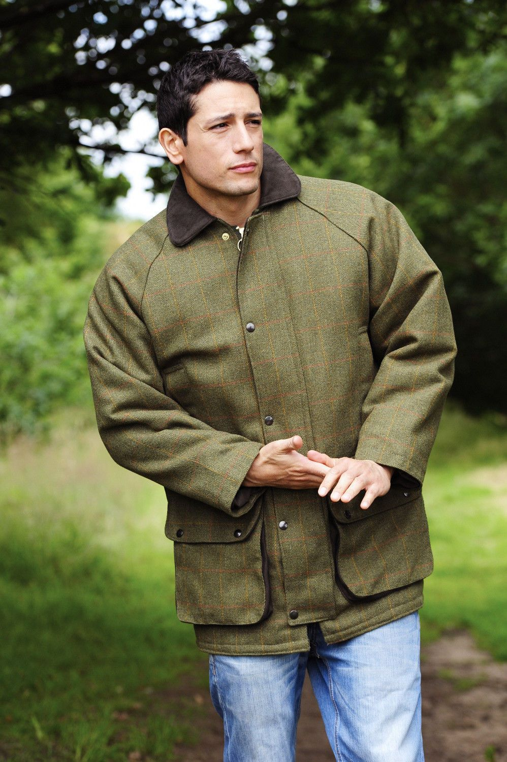 Mens Classic Derby Tweed Quilted Heavy Weight Field